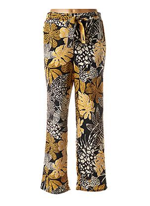 Pantalon casual jaune DIANE LAURY pour femme