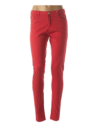 Jeans coupe slim rouge B.YOUNG pour femme