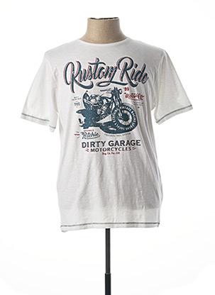 T-shirt manches courtes blanc RITCHIE pour homme