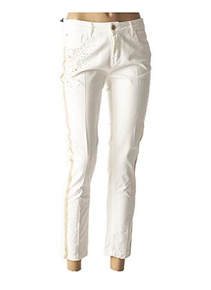 Jeans coupe slim blanc KOCCA pour femme