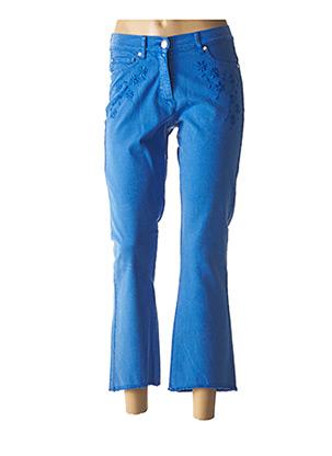 Pantacourt citadin bleu CAROLINE BISS pour femme