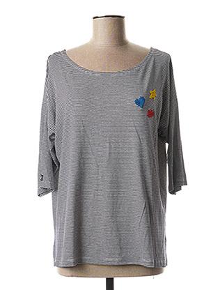T-shirt manches longues bleu LE PETIT BAIGNEUR pour femme