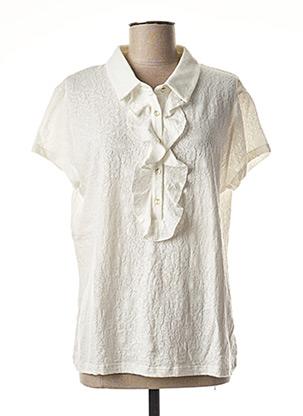 Polo manches courtes blanc LE PETIT BAIGNEUR pour femme