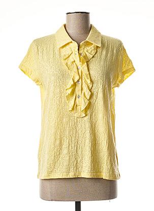 Polo manches courtes jaune LE PETIT BAIGNEUR pour femme