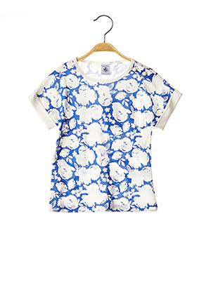 T-shirt manches courtes bleu PETIT BATEAU pour fille