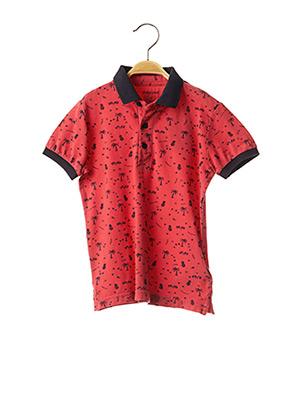 Polo manches courtes rouge MAYORAL pour garçon