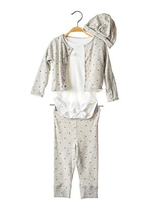 Pyjama gris PETIT BATEAU pour enfant