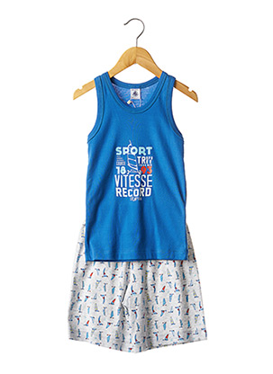 Pyjashort bleu PETIT BATEAU pour garçon