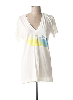 T-shirt manches courtes blanc FABULOUS ISLAND pour femme