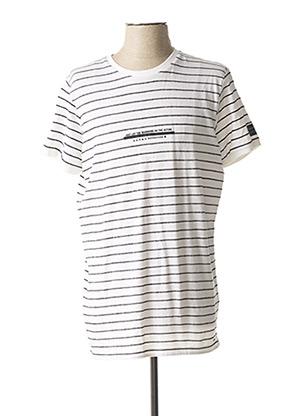 T-shirt manches courtes blanc DSTREZZED pour homme