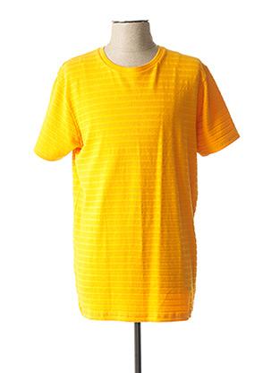 T-shirt manches courtes orange DSTREZZED pour homme