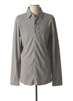 Chemise manches longues gris DSTREZZED pour homme