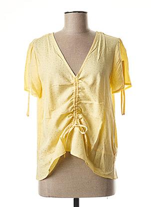 Blouse manches courtes jaune B.YOUNG pour femme