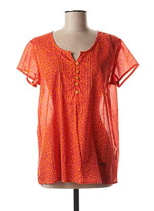 Blouse manches courtes orange AGATHE & LOUISE pour femme