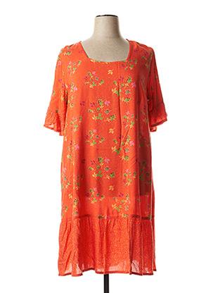 Robe courte orange AGATHE & LOUISE pour femme
