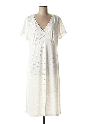 Robe mi-longue blanc TIFFOSI pour femme