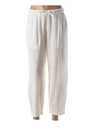 Pantalon casual blanc AGATHE & LOUISE pour femme