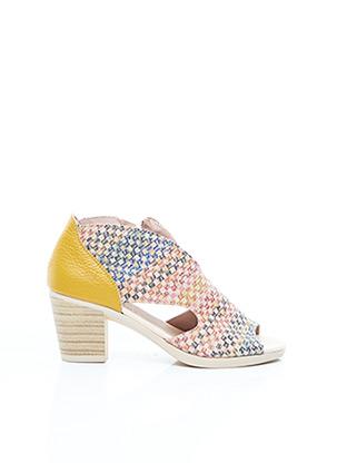 Sandales/Nu pieds jaune JOSE SAENZ pour femme