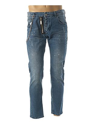 Jeans coupe droite bleu UNIPLAY pour homme