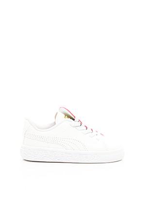 Baskets blanc PUMA pour fille