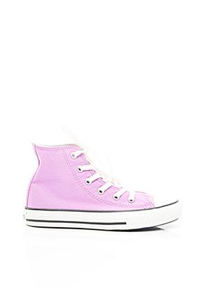 Baskets violet CONVERSE pour fille