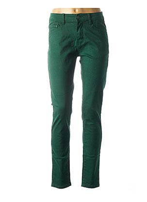 Jeans coupe slim vert VOGGO pour femme