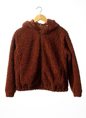 Manteau court marron BECKARO pour fille