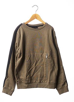 Sweat-shirt vert BECKARO pour garçon