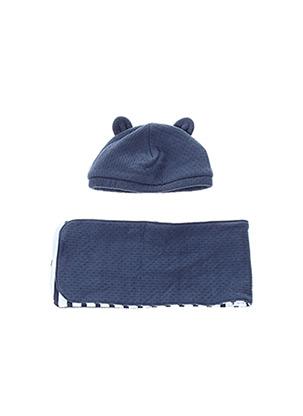 Bonnet bleu P'TIT BISOU pour garçon