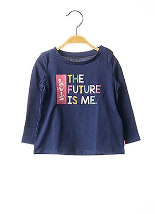 T-shirt manches longues bleu LEVIS pour fille