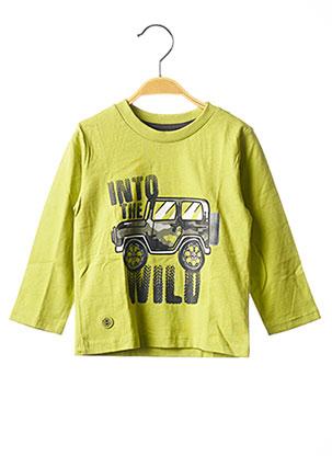 T-shirt manches longues vert BOBOLI pour garçon