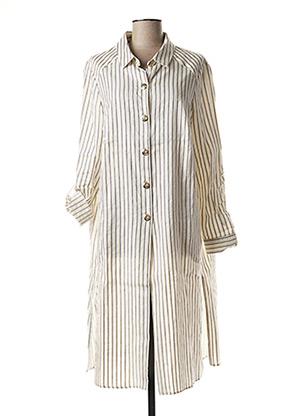 Robe longue blanc MARGA NOVAS pour femme