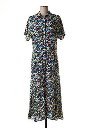 Robe longue vert FIVE pour femme