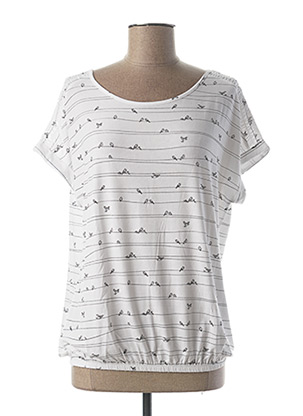 T-shirt manches courtes blanc BETTY AND CO pour femme