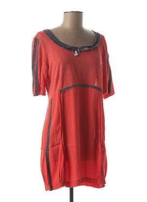 Tunique manches longues rouge ELISA CAVALETTI pour femme