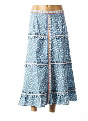 Jupe longue bleu POUPEE CHIC pour femme