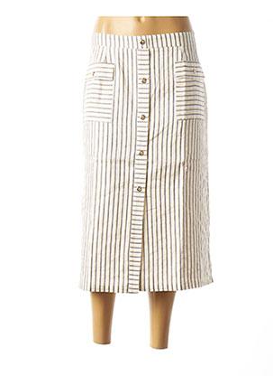 Jupe mi-longue beige MARGA NOVAS pour femme