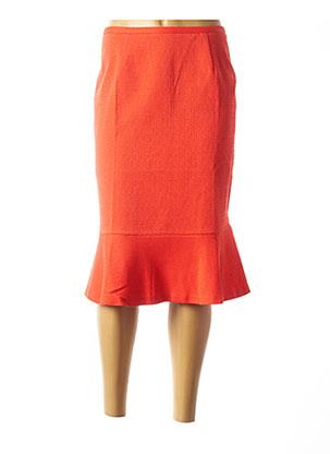 Jupe mi-longue orange MARGA NOVAS pour femme