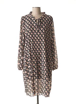 Robe mi-longue noir PIMENT ROUGE pour femme