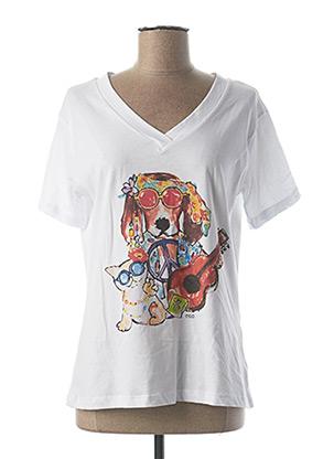 T-shirt manches courtes blanc EGO pour femme