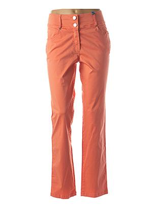 Pantalon casual orange QUATTRO pour femme