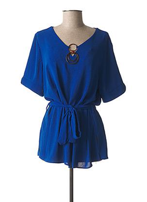 Tunique manches courtes bleu CHRISTINE LAURE pour femme