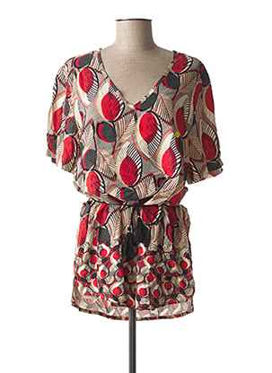 Tunique manches courtes rouge GRIFFON pour femme