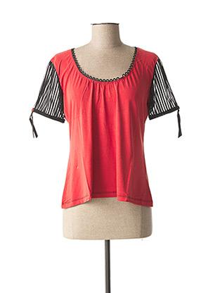 T-shirt manches courtes rouge LOLESFILLES pour femme