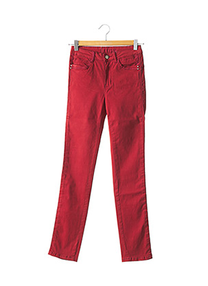 Pantalon casual rouge C'EST BEAU LA VIE pour femme