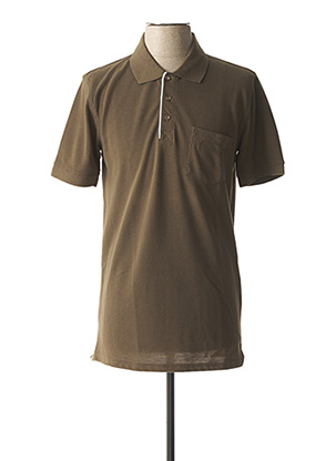 Polo manches courtes vert NEW SPORTSWEAR pour homme
