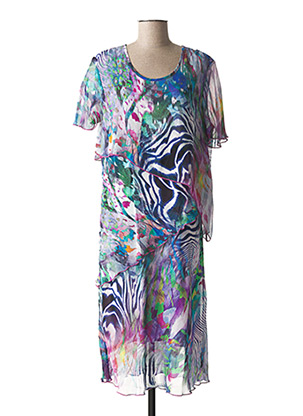 Robe mi-longue bleu GRIFFON pour femme