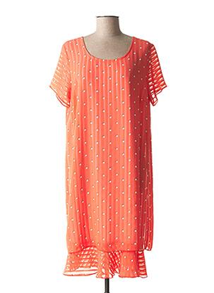 Robe mi-longue orange TELMAIL pour femme