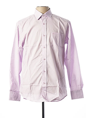 Chemise manches longues rose ARMORIAL pour homme