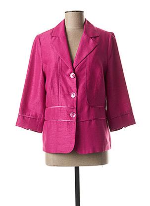 Veste casual violet GUY DUBOUIS pour femme